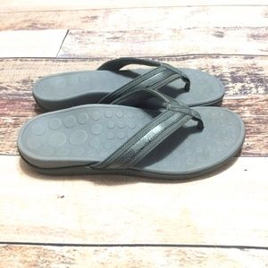 Vionic Tide II Orthaheel Gray Thong Sandals